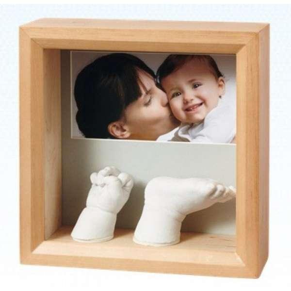 Baby Art My Baby 3D Sculpture komplekts mazuļa pēdiņu/rociņu nospieduma izveidošanai, honey 34120183