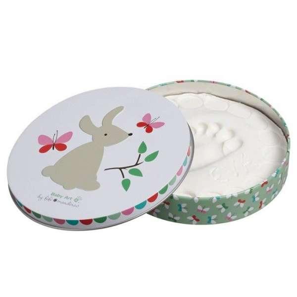 Baby Art Magic Box Komplekts mazuļa pēdiņu/rociņu nospieduma izveidošanai, Bunny, 3601092000