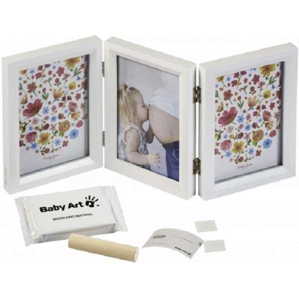 Baby Art Double Print Frame Carolin Style Komplekts mazuļa pēdiņu-rociņu nospieduma izveidošanai, 3601092500