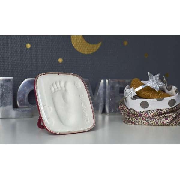 Baby Art Hello Baby Burgundy  Komplekts mazuļa pēdiņu-rociņu nospieduma izveidošanai, 3601092600