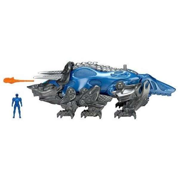 Bandai Power Ranger Triceratops Battle Zord with Blue Ranger, 42560