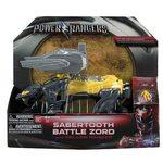 Bandai Power Ranger Sabretooth Battle Zord with Yellow Ranger, 42560