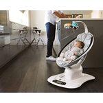 4moms MamaRoo 4 Bērnu šūpuļkrēsls Plush Silver 16910