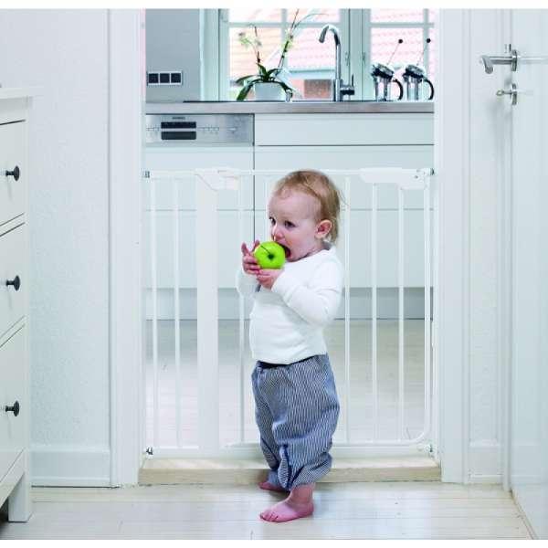 BabyDan Drošības vārtiņi Danamic ar 1 pagarinājumu, balts, 51314-5491-02