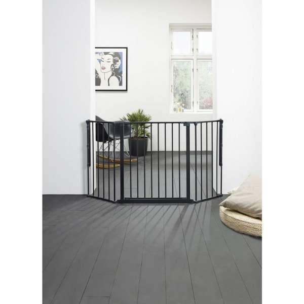 BabyDan Drošības vārtiņi Configure FLEX M, melns, 56216-10600-09