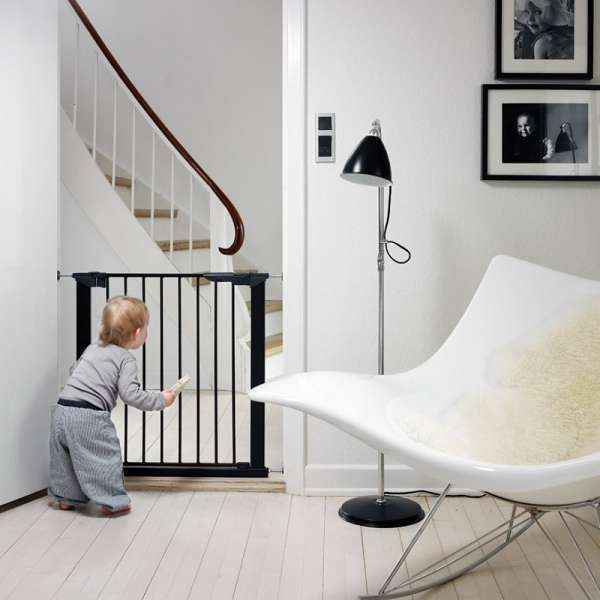 BabyDan Drošības vārtiņi Premier Indicator Gate ar 1 pagarinājumu, melns, 60116-5691-01