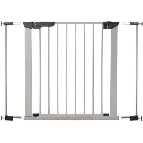 BabyDan Drošības vārtiņi Premier Indicator Gate ar 2 pagarinājumiem, sudrabs, 60117-5692-09