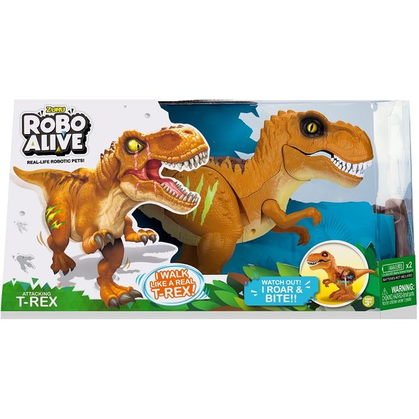 Zuru Robo Alive Attacking T-Rex Dino Brown 7110