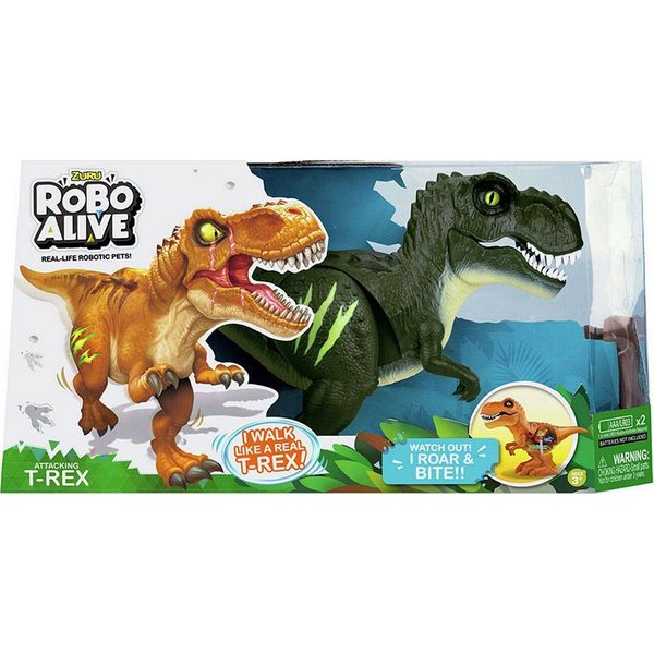 Zuru Robo Alive Attacking T-Rex Dino Green 7110