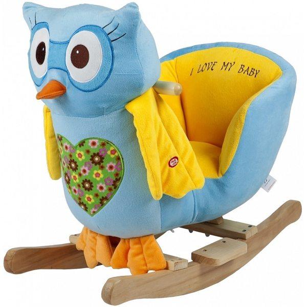 BabyGo Rocker Owl blue šūpuļkrēsls 910-13