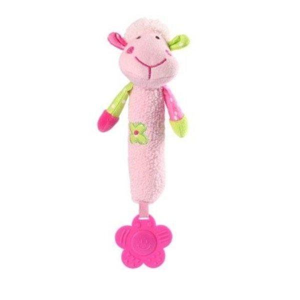 BabyOno Rotaļlieta ar pīkstuli un zobu riņķi Aitiņa, 996
