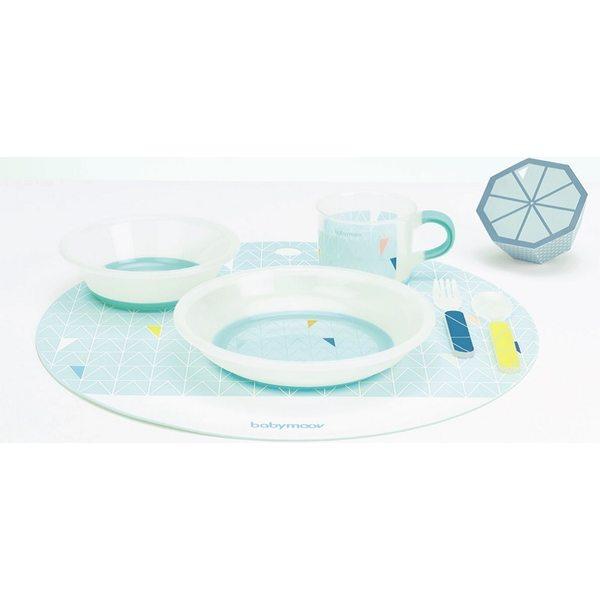 Babymoov Anti-slip Feeding Set Azur Trauku komplekts bērniem, A005508