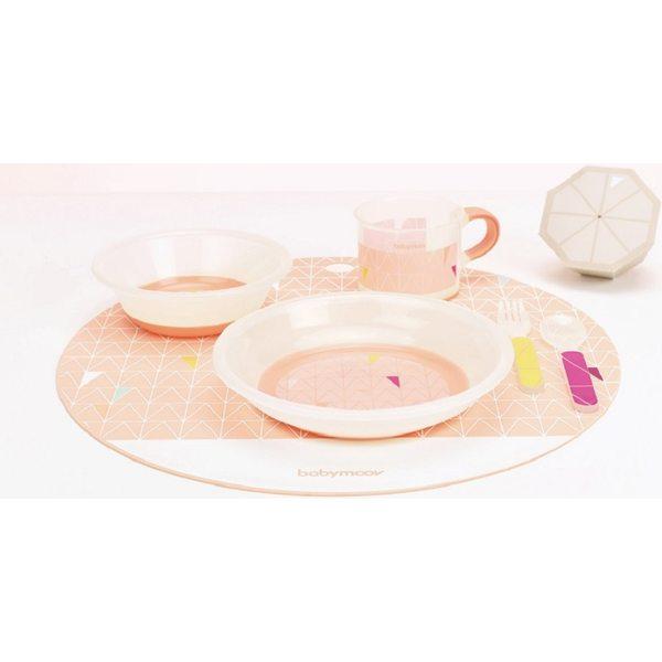 Babymoov Anti-slip Feeding Set Peach Trauku komplekts bērniem, A005509