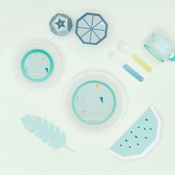 Babymoov Bamboo Dinnerware Set Azur Trauku komplekts bērniem, A005510