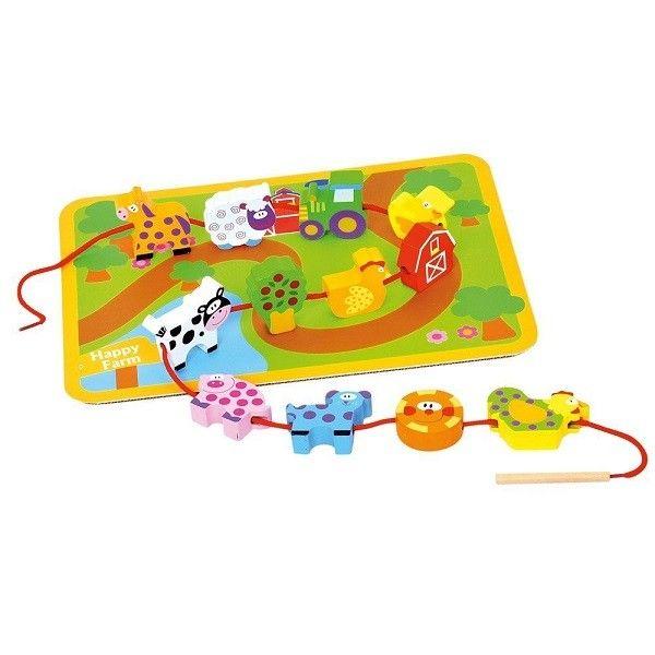 Bino Šņorējamā rotaļlieta Dzīvnieki, 81038