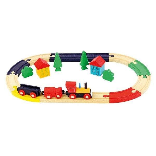 Bino Koka dzelzceļš Railway Set Oval, 82274