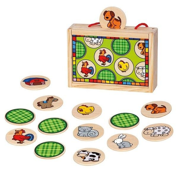 Bino Spēle Memory Farm Animal, 84041