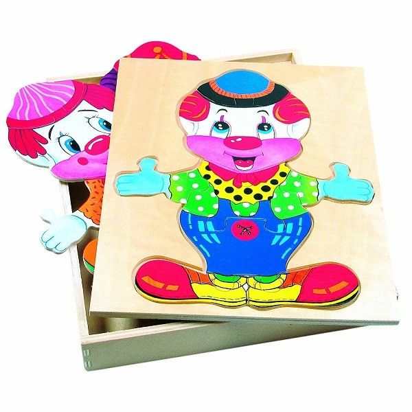 Bino Dress Up Puzzle - Clown, 88001