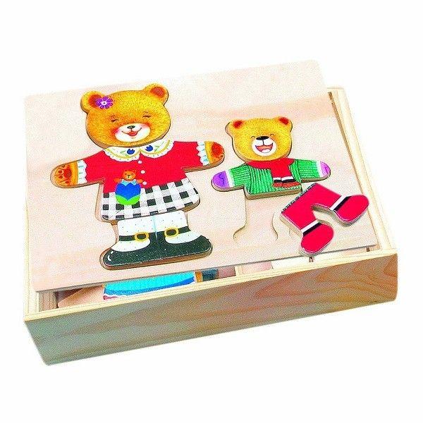 Bino Puzzle Put On Clothing - Bears, 88023