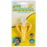 Baby Banana Toothbrush Banana Zobu birste graužamais Yellow BR003