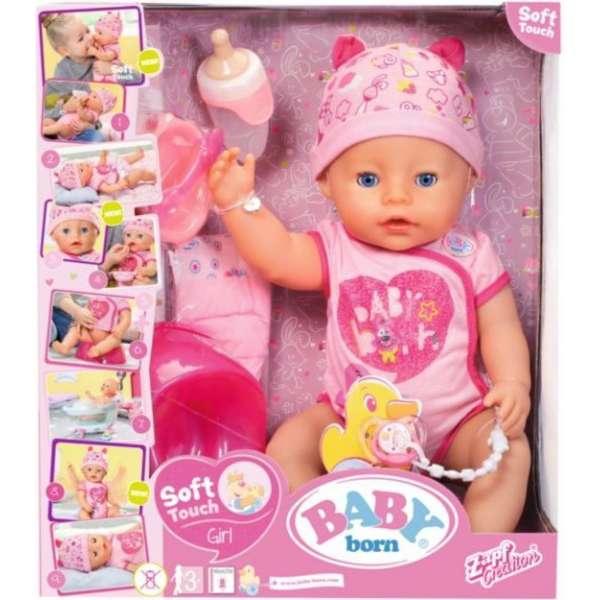 Baby Born Soft Touch Interaktīva lelle-mazule, 43 cm 824368