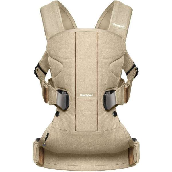 BabyBjorn Ķengursoma Baby Carrier One, Cotton Mix, Bircwood beige