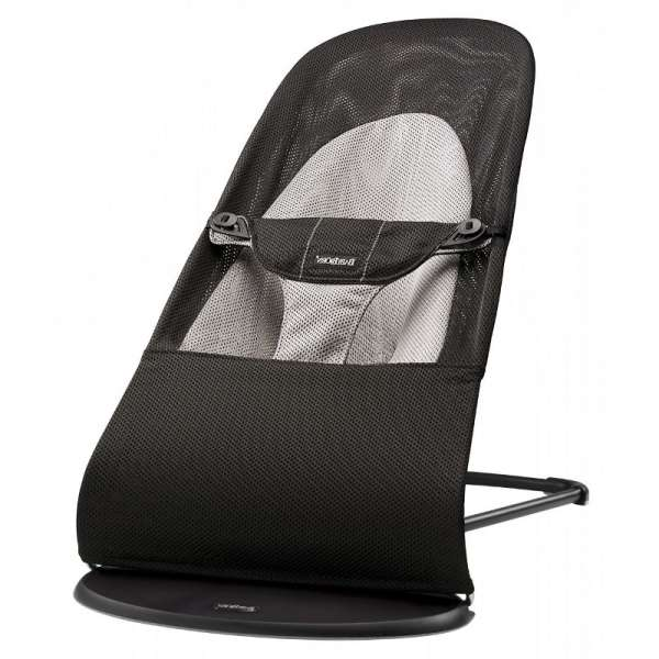 BabyBjorn Bouncer Balance Soft Bērnu šūpuļkrēsls, Black/Grey Mesh