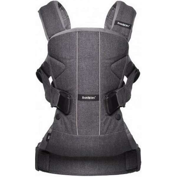BabyBjorn Ķengursoma Baby Carrier One, Cotton Mix, Dark grey/Grey 098094