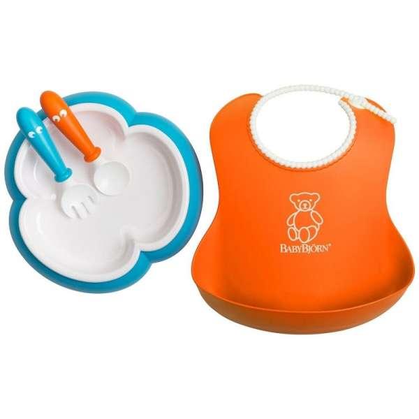 BabyBjorn Baby feeding set Orange/turquoise Komplekts barošanai 078082