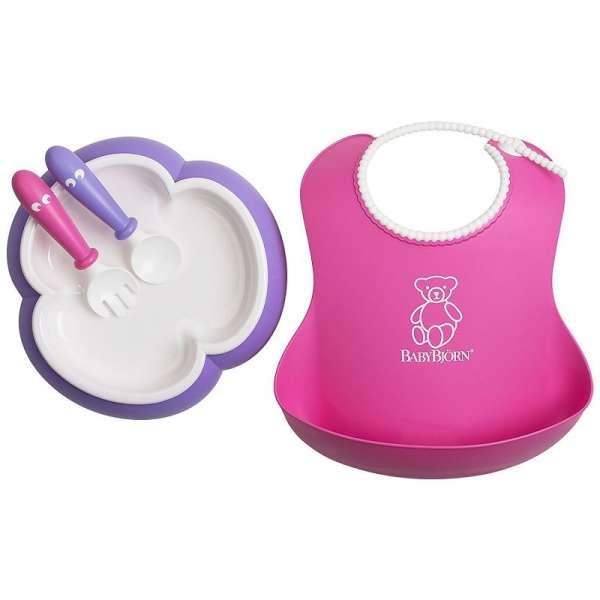 BabyBjorn Baby feeding set Pink/purple Komplekts barošanai 078046