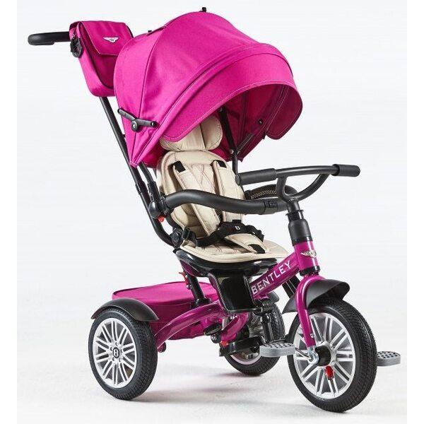 Bentley Trike Bērnu trīsritenis 6 vienā ar piepūšamiem riteņiem Fuchsia Pink BN1F