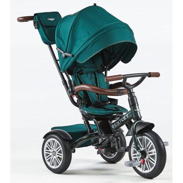 Bentley Trike Bērnu trīsritenis 6 vienā ar piepūšamiem riteņiem Spruce Green BN1G