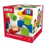 Brio 25 Coloured Blocks Koka kluči 30114