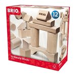 Brio 50 Natural Blocks Koka kluči 30113