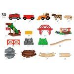 Brio Animal Farm Set Koka dzelzceļš 33984