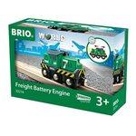 Brio Battery Powered Freight Engine Kravas vilciens ar baterijām 33214