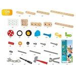 Brio Builder Construction Set 136 pcs. Būvniecības komplekts 34587