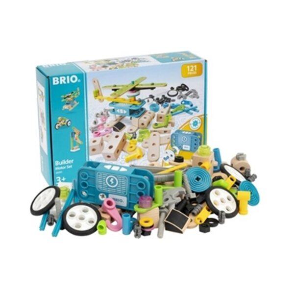Brio Builder Motor Set 120 pcs. Būvniecības komplekts 34591