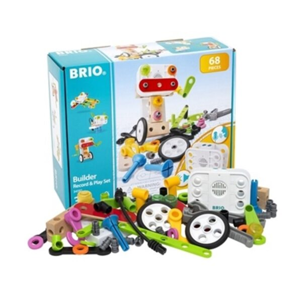 Brio Builder Record and Play Set 67 pcs. Būvniecības komplekts 34592