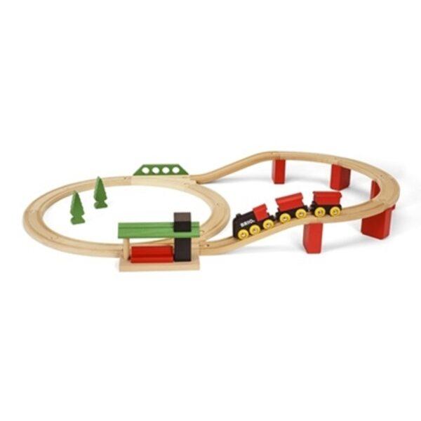Brio Classic Deluxe Set Koka dzelzceļš 33424