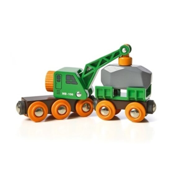 Brio Clever Crane Wagon Dzelzceļa celtnis 33698