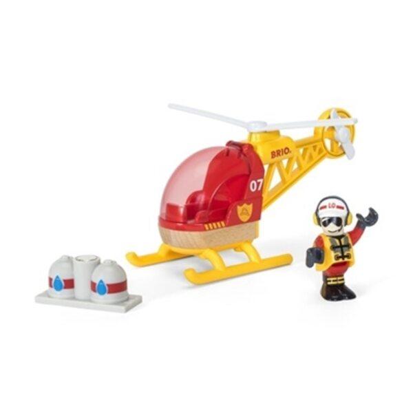 Brio Firefighter Helicopter Ugunsdzēsēju helikopters 33797