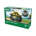 Brio Light Up Gold Wagon Dzelzceļa vagons 33896