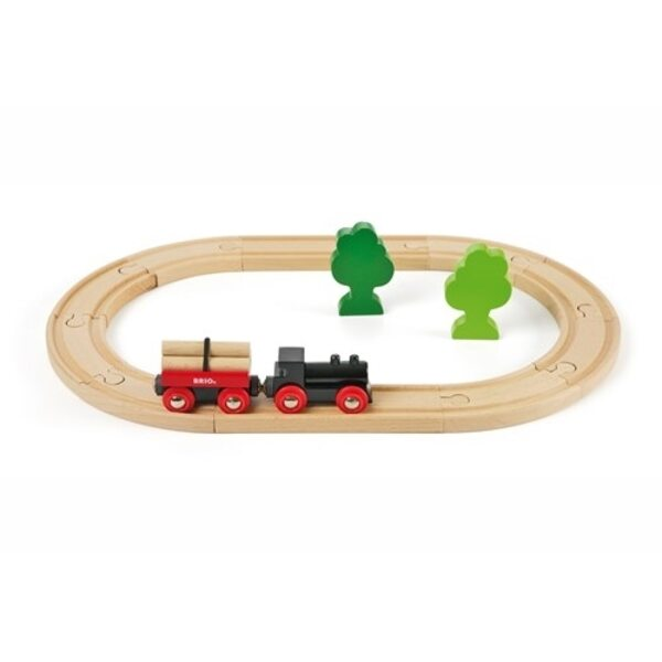 Brio Little Forest Train Set Koka dzelzceļš 33042