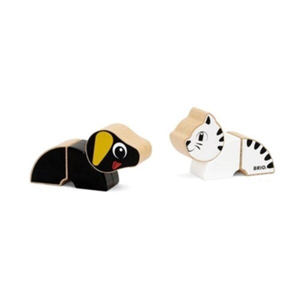 Brio Magnetic Cat and Dog Magnētiskie koka kluči 30269