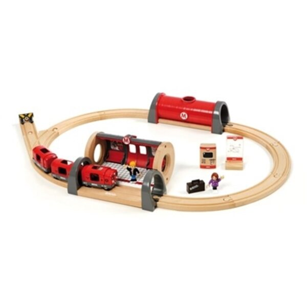 Brio Metro Railway Set Koka dzelzceļš 33513