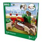 Brio Nordic Animal Set Koka dzelzceļš 33988
