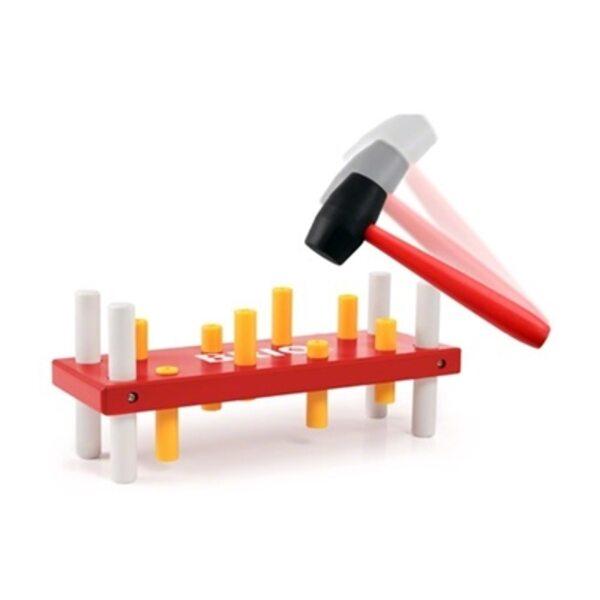Brio Pounding Bench Koka rotaļlieta ar āmuru 30525
