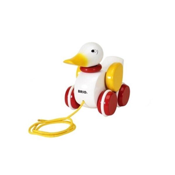 Brio Pull Along Duck Koka velkamā rotaļlieta 30323