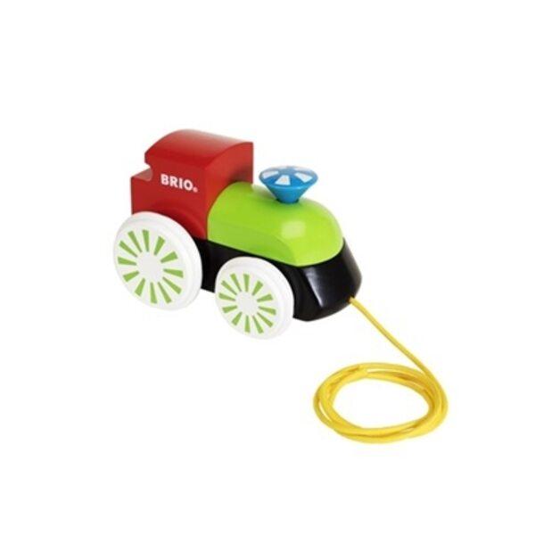 Brio Pull Along Engine Koka velkamā rotaļlieta 30240